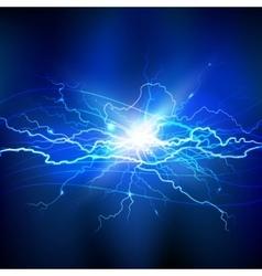 Blue Lightning Background vector