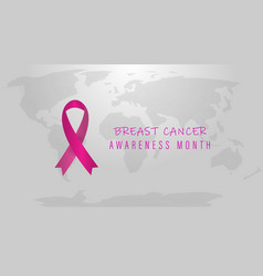 breast cancer october awareness month world vector image