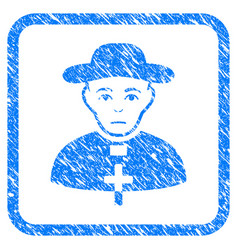 Catholic shepherd framed stamp vector
