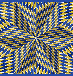 Checkered yellow blue six pointed star optical vector