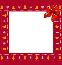 christmas or new year square border frame with vector