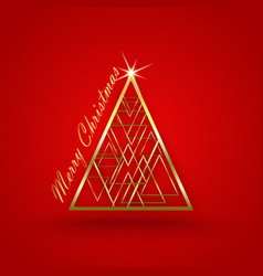 Christmas red background tre vector