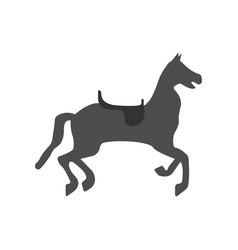 Circus horse icon vector