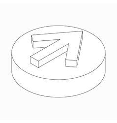 Classic arrow icon isometric 3d style vector