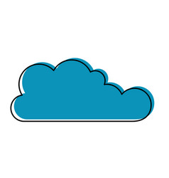 cloud icon flat in watercolor silhouette vector image