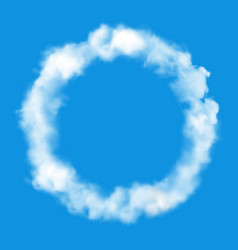 cloud in sky round circle fluffy cloudy air frame vector image