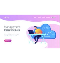 cloud managementconcept landing page vector image