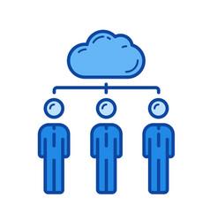 cloud network line icon vector image