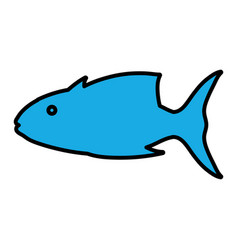 color tropical tuna fish nature animal vector image