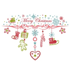 Colorful Christmas garland vector