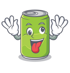 Crazy soft drink character cartoon vector
