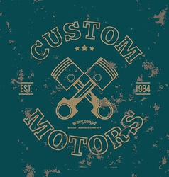 Custom motors T-shirt graphics vector