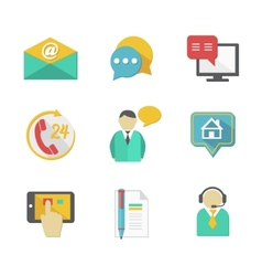 Customer Helpdesk Contacts Design Elements vector