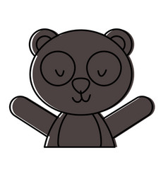 Cute and tender bear panda vector