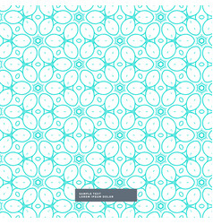 cute blue floral style pattern background vector image