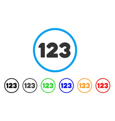 digits rounded icon vector image