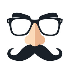 Disguise mask funny glasses vector
