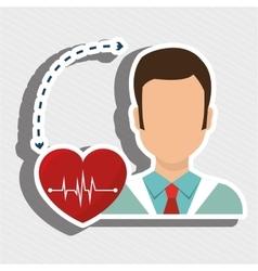 doctor heath service vector image vector image