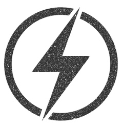 Electricity Icon Rubber Stamp vector image