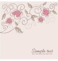 Floral twirl postcard vector