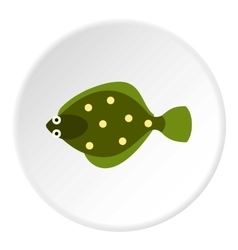Flounder icon flat style vector