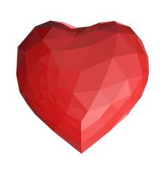 geometrical polygonal heart vector image
