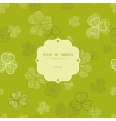 Green clover textile texture frame seamless vector