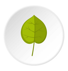 Green linden leaf icon circle vector