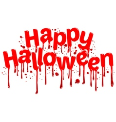 Happy Halloween sign blood vector