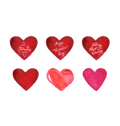 happy valentines day banner set vector image
