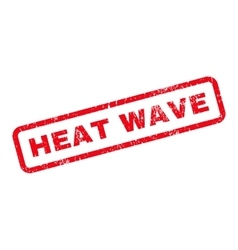 Heat Wave Text Rubber Stamp vector image
