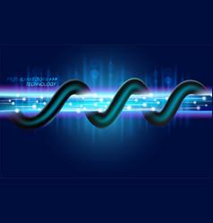 High speed digital fiber optic technology vector