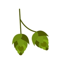 Hop cone icon flat style vector