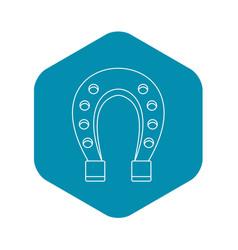 horseshoe icon outline style vector image