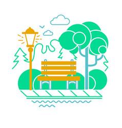 Icon of a calm park vector