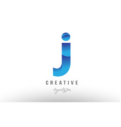 J blue gradient alphabet letter logo icon design vector