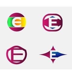 Letter E logo template Abstract icon vector