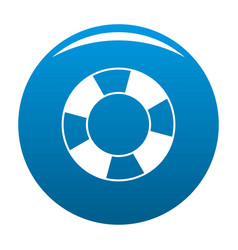 lifebuoy icon blue vector image