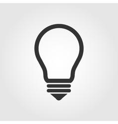 Light bulb icon flat design vector