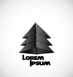 logo black pyramid vector image