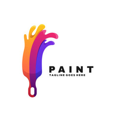 logo paint gradient colorful style vector image