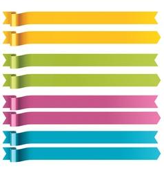 long ribbons vector image
