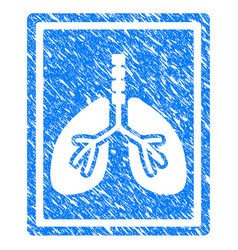 lungs fluorography grunge icon vector image