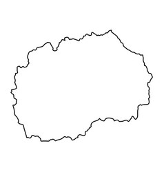 macedonia map of black contour curves on white vector image
