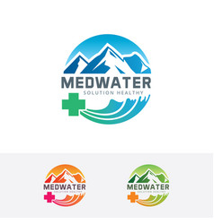 Medical water logo vector