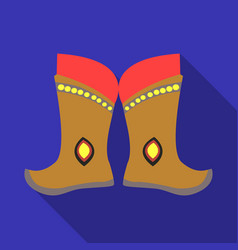Military boots of the mongolspart of the national vector