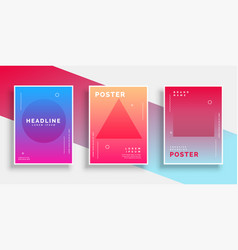 minimal geometric memphis style poster background vector image