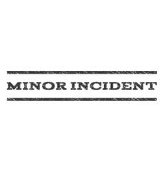 Minor Incident Watermark Stamp vector