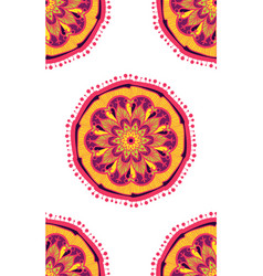 native bright seamless pattern from boho mandala vector image