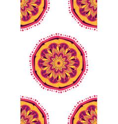 native bright seamless pattern from boho mandala vector image